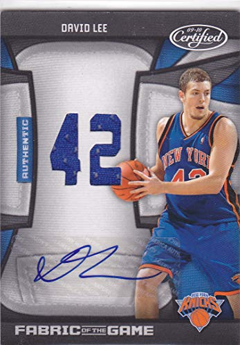 - 2009-10 CERTIFIED DAVID LEE FABRIC OF THE GAME AUTO AUTOGRAPH JERSEY /25