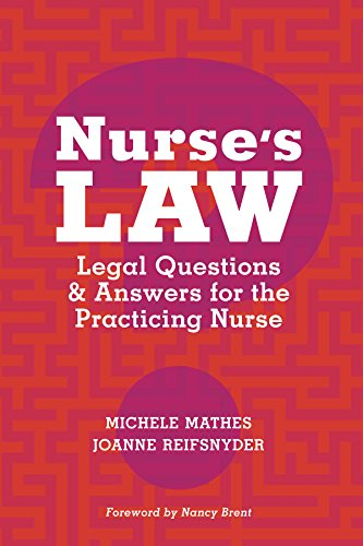 Nurse's Law: Questions & Answers for the Practicing Nurse Pdf