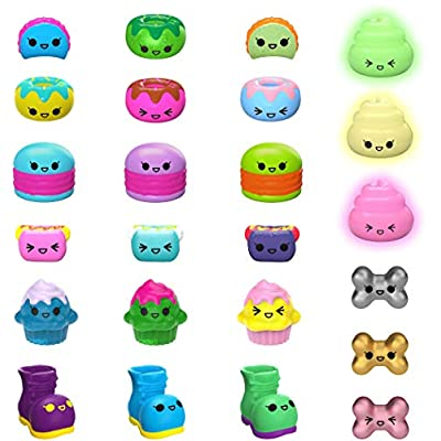 Pooparoos: Squishy Pooping Pets Surprise Multipack with 3 Pooparoos - Figures and 10 Food Accessories: Toys & Games