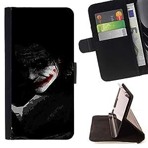Momo Phone Case / Flip Funda de Cuero Case Cover - Joker Sombra;;;;;;;; - Samsung Galaxy S4 IV I9500