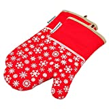 Silicone Oven Mitts Xmas Snowf