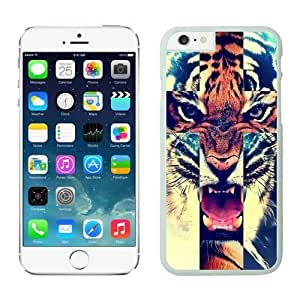Iphone 6 Case 4.7 Inches, Great White Hard Phone Cover Case for Apple Iphone 6 Tiger Roar Cross Hipster Quote Animal Design