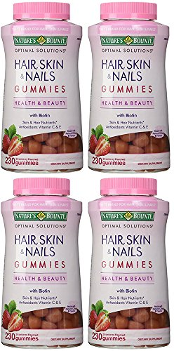 Nature's Bounty gXIOb Hair Skin and Nails, 230 Gummies (4...