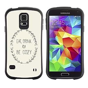 Suave TPU GEL Carcasa Funda Silicona Blando Estuche Caso de protección (para) Samsung Galaxy S5 / CECELL Phone case / / Inspirational Text Minimalist Beige Wreath /
