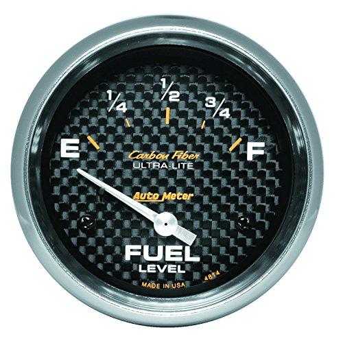 Carbon Fiber Fuel Gauge (Auto Meter 4814 Carbon Fiber Electric Fuel Level)