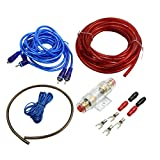 uxcell 8 AWG Car Audio Subwoofer Amplifier Wiring Fuse Holder Wire Cable Kit