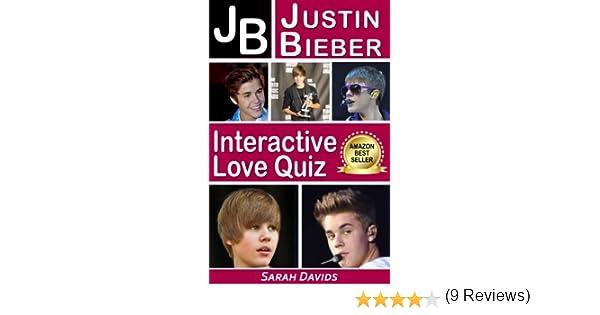 Justin Bieber JB Interactive Love Quiz Interactive Quiz Books