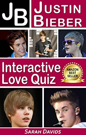 Justin Bieber JB Interactive Love Quiz Interactive Quiz Books