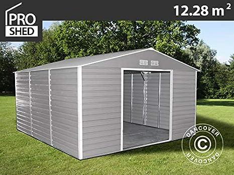 Dancover Caseta de jardín 3,4x3,82x2,05m ProShed, Gris/Marrón: Amazon.es: Jardín