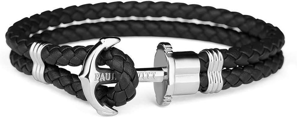 bracelet ancre noir et or