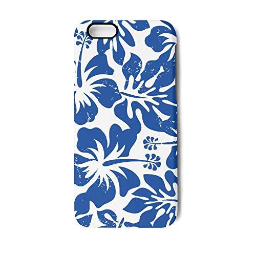 (YUEch iPhone 7 Plus Case, iPhone 8 Plus Case Tropical Blue Hibiscus Flower Art TPU Shock-Absorption & Skid-Proof Anti-Scratch Phone Case Compatible with iPhone 7 Plus/iPhone 8 Plus)