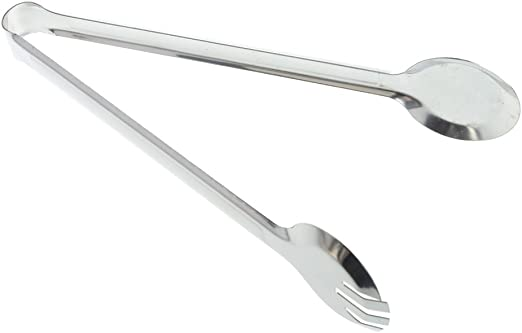 """9/""""//12/"""" Stainless Steel Food Tongs Salad Bread BBQ Buffet Clip Kitchen Clamp Tool"""