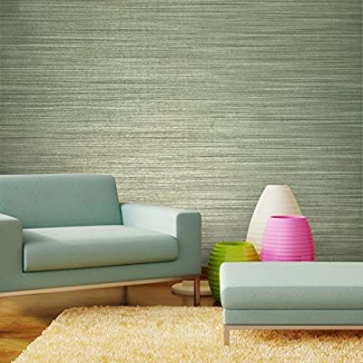 76 sq.ft rolls Italian Portofino textured wallcoverings modern embossed Vinyl Wallpaper green brown gold metallic faux grass cloth fabric imitation design horizontal stria lines plain wall coverings
