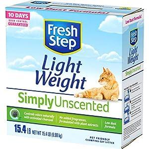 Fresh Step Simply Unscented Lightweight Litter, Clumping Cat Litter, 15.4 Pounds 47