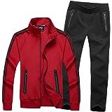 Men's Casual 2 Pieces Athletic Jogging Suits Sets Full Zip Sports Sets Jacket & Pants Active Tracksuit Set