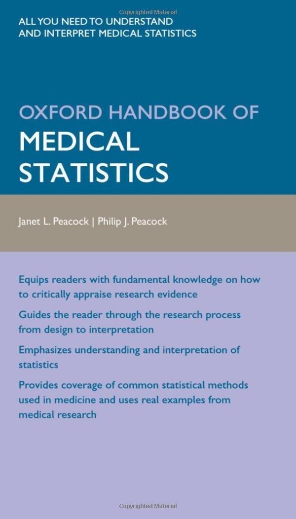 Kết quả hình ảnh cho Oxford Handbook of Medical Statistics