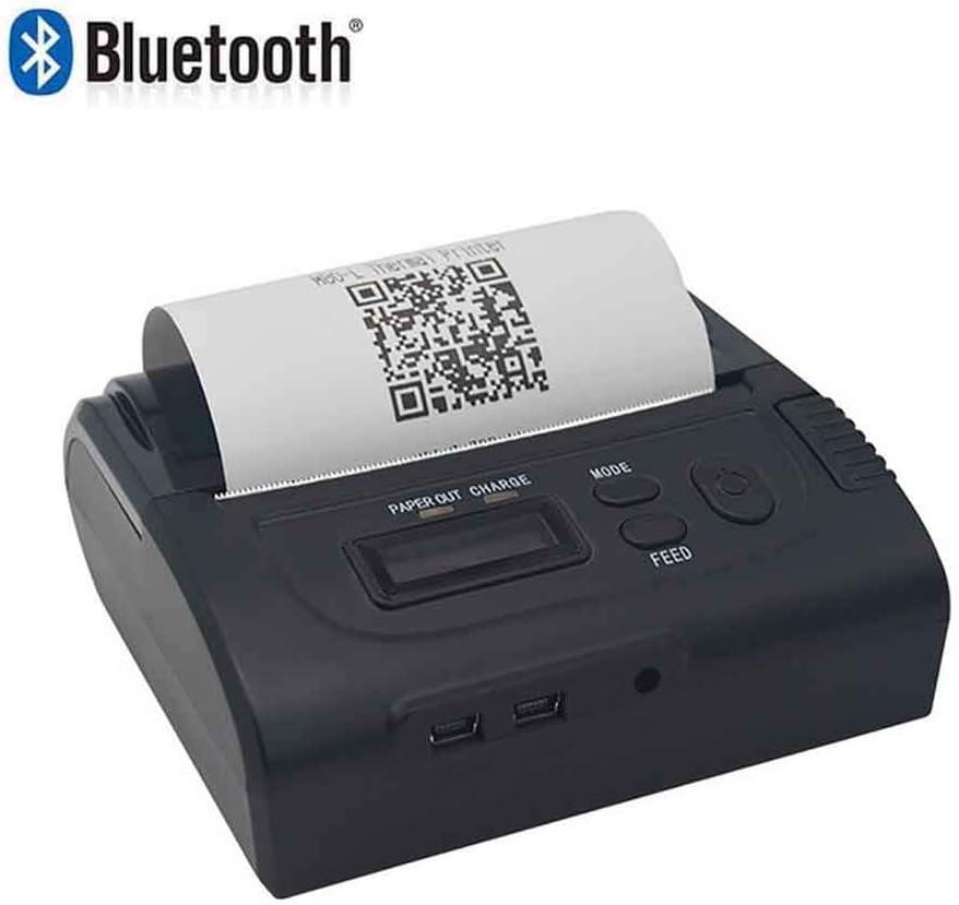 SDZSH Impresora Térmica, Los 72MM Mini Portátil Bluetooth Térmico ...