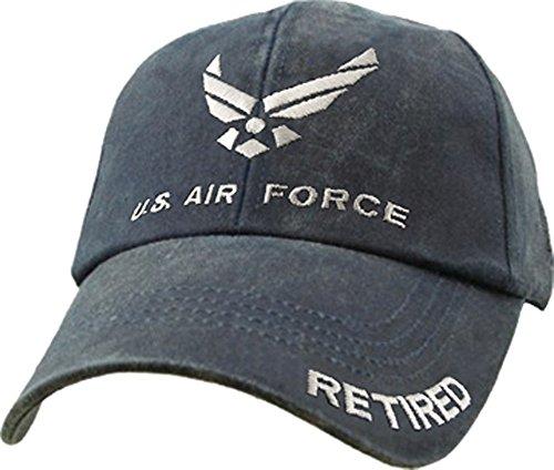 U.S. Air Force Retired Cap. Washed Denim Blue,Denim Blue,One Size Fits Most