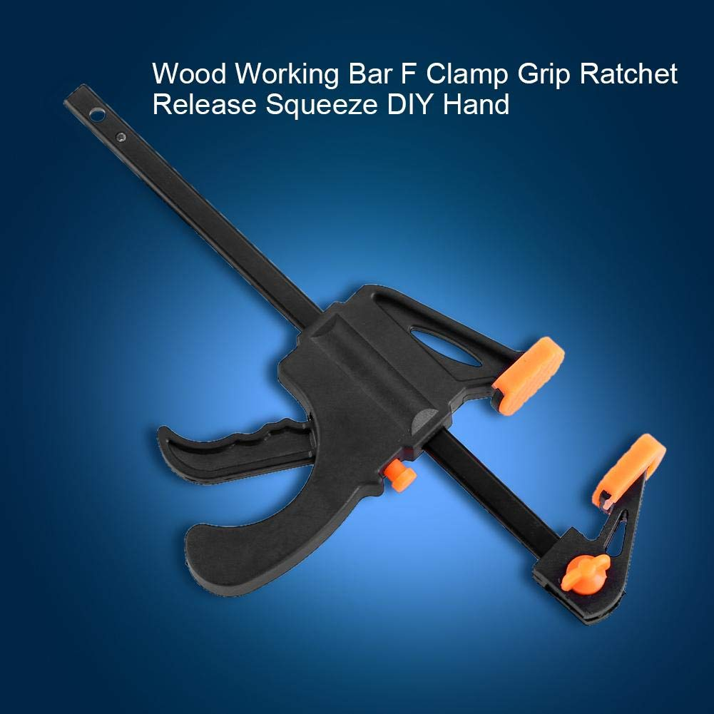 F Woodworking Clamps Plastic Woodworking Quick Grip Clamps for Furniture Manufacturing DIY Hand Gadget Tool