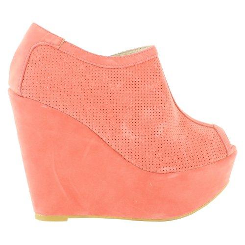Footwear Sensation - punta abierta mujer rosa - Coral