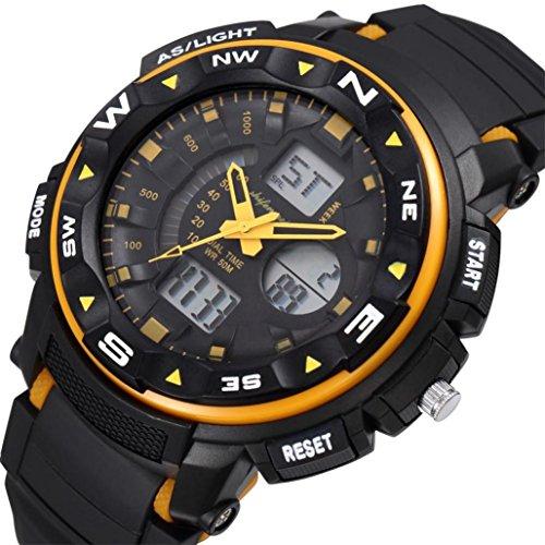 LtrottedJ Men's Digital Quartz Sport Watches ,Mountaineering Waterproof Electronic Watches ()