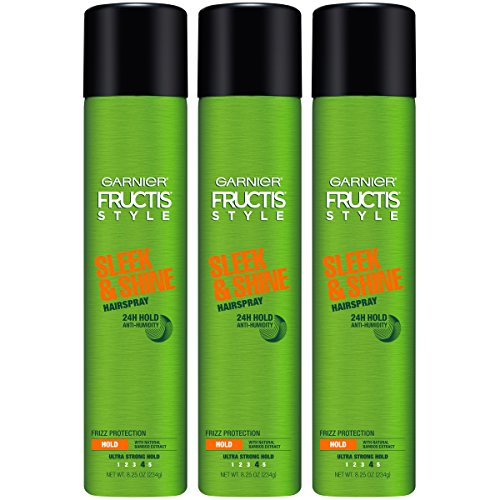 Shine Control And Protection (Garnier Fructis Style Sleek & Shine Hairspray, All Hair Types, 8.25 oz. (Packaging May Vary), 3 Count)