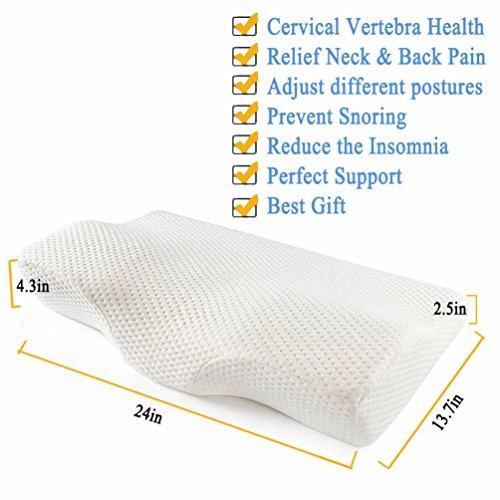 Meiz Soft Memory Foam Contoured Orthopedic Cervical Pillow