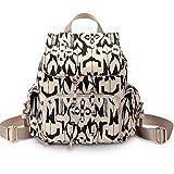 Artone Canvas Tribal Stripe Flap Drawstring Daypack Backpack Fit A4 Paper Black