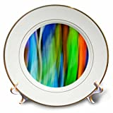 3dRose Danita Delimont - Abstracts - A motion blur of a stain glass window. - 8 inch Porcelain Plate (cp_276400_1)