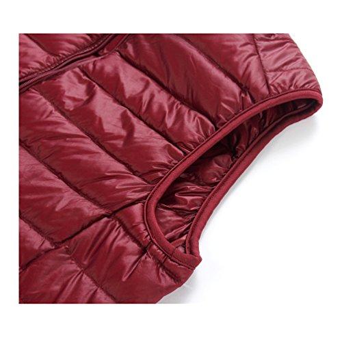 breve recta abrigo de la caliente 04 mantener cuello ligero chaleco down cremallera párrafo macho Chaquetas 8Xgqv