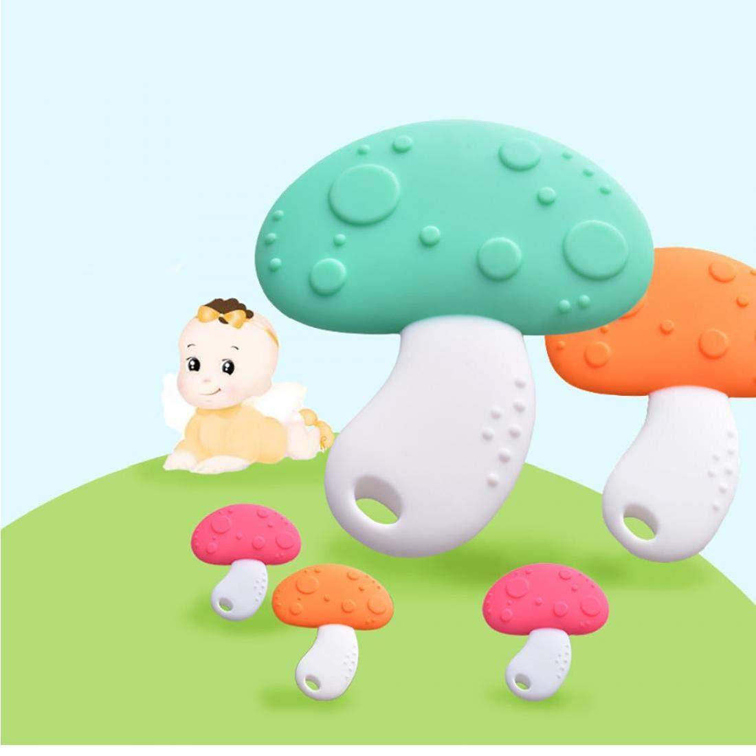 Orange hvxjxk Silikon-Baby-Bei/ßringe Molar-Stick Spielzeug Pilzform S/äuglingskleinkind Greiflinge Weiche Z/ähne Bei/ßen Stock-Kinder Kauspielzeugen