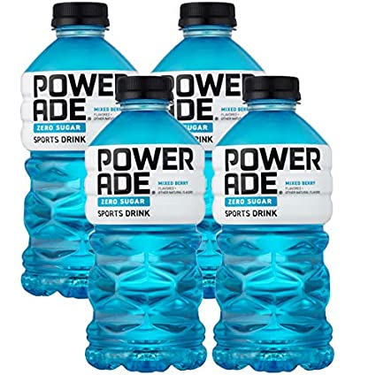 Amazon Com Powerade Zero Blue Mixed Berry Zero Calorie Sports Drink 32oz Bottle Pack Of 4 Total Of 128 Oz Grocery Gourmet Food