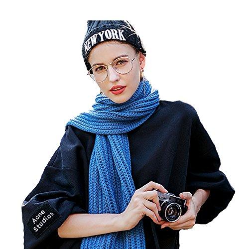 Mode Blau Erwachsene Frau Häkeln 80store Männer Schal Hals Unisex