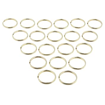 Gold Schlüsselring Split Key Ring Schlüssel 100 Stück Schlüsselringe 12mm Farbe