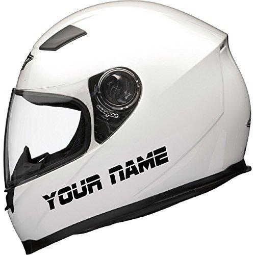 2 x PERSONALISED MOTORBIKE BIKE MOTORCYCLE SCOOTER CRASH HELMET VINYL NAME...