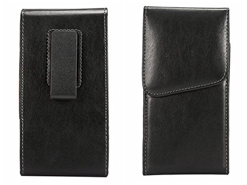 f34c363ffd LG  quot Phoenix 3 quot  Vertical Black Smooth Leather Case (Oversized to  Fit with