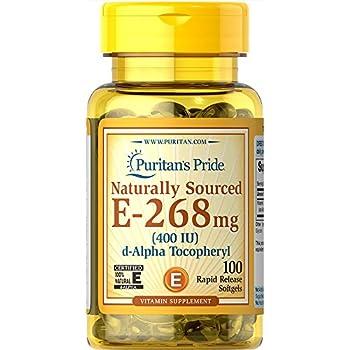 Puritan's Pride Vitamin E-400 iu Naturally Sourced-100 Softgels