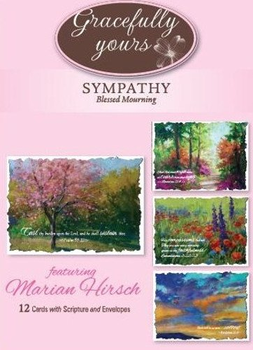 Amazon gracefully yours blessed mourning sympathy greeting gracefully yours blessed mourning sympathy greeting cards featuring marian hirsch 12 4 designs m4hsunfo