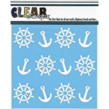 "Clear Scraps Stencils, 6 x 6"", Anchors and Helms"