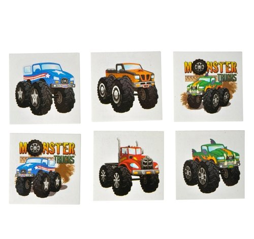 2'' MONSTER TRUCK TATTOOS, Case of 60 by DollarItemDirect (Image #1)