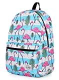 TRENDYMAX Backpack Cute for School   16''x12''x6''   Holds 15.4-inch Laptop   Flamingos, Stripes