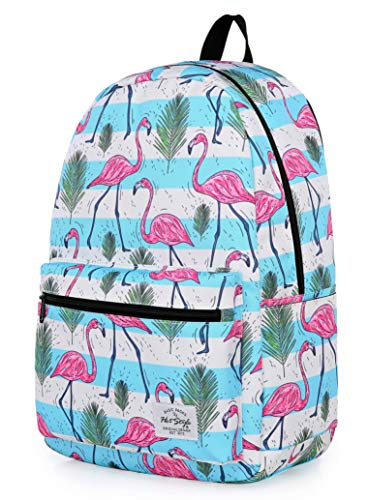 HotStyle TRENDYMAX Backpack Cute for School | 16″x12″x6″ | Holds 15.4-inch Laptop | Flamingos, Stripes