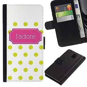 For Samsung Galaxy Note 3 III Case , Puzzle Art Cubism Kid - la tarjeta de Crédito Slots PU Funda de cuero Monedero caso cubierta de piel