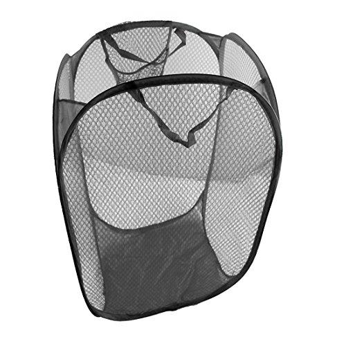 JJOnlineStore-UK Faltbare Pop up Mesh-Wäschekorb Korb Tasche Bin behindern Spielzeug ordentliche Aufbewahrung Veranstalter Organizer schwarz