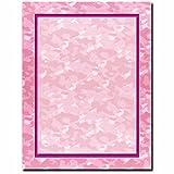 Pink Camo Letterhead Laser & Inkjet Printer Paper, 100 pack