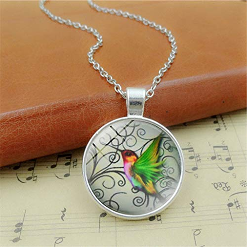 (Clearance Sale!DEESEE(TM)New Hummingbird Jewelry Blue Hummingbird Necklace Charm Pendant Necklace)