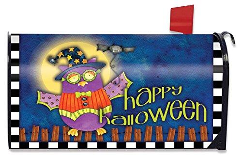 Briarwood Lane Halloween Owl Primitive Magnetic Mailbox Cover Standard