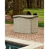 Rubbermaid Outdoor Split-Lid Storage Shed, 18