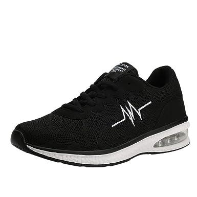 557d424c66601 Amazon.com: TIFENNY Men's Leisure Net Surface Flat Running Shoes Non ...
