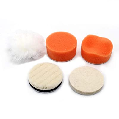 2'' Polishing Pads Sponge Waxing Buffing Kit for for Car Polisher Boat Polishing,Motocycle Sanding, Polishing, Waxing: Automotive